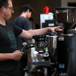 SAN FRANCISCO, CA - AUGUST 26:  A barista at Sightglass Coffee makes a coffee drink on August 26, 2011 in San Francisco, California. Coffee shops across the country are being faced with the decision to raise retail coffee prices as wholesale coffee bean prices are surging. According to the International Coffee Organization, the daily average composite price of coffee beans has gone up nearly every day over the last 12 days.  (Photo by Justin Sullivan/Getty Images)