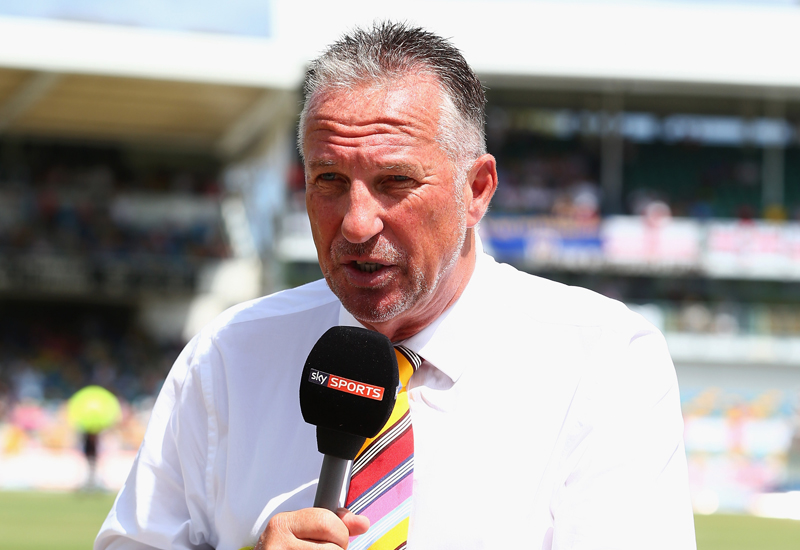 BRIDGETOWN, BARBADOS - MAY 02:  Sir Ian Botham ex England cricketer and Sky television commentator during day two of the 3rd Test match between West Indies and England at Kensington Oval on May 2, 2015 in Bridgetown, Barbados.  (Photo by Michael Steele/Getty Images)