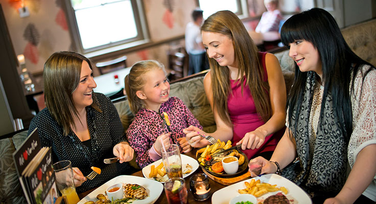 Family dining areas pioneered by companies like Greene King are pulling in repeat customers.