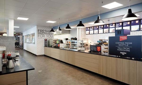 Asda Colne store official opening after their refurbishment pictured the new cafe area