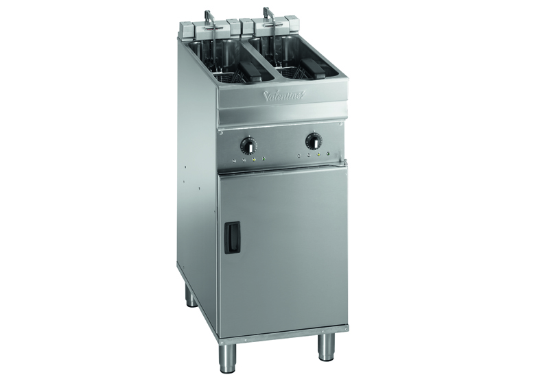 The fryer pans from Valentine's Evo 2200P range are pressed from single pieces of stainless steel and energy efficiency comes from insulated pans and smaller cool zones that save up to 10% on oil capacity producing the same output as previous models. List price: £5,430