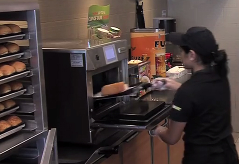 Subway store using Merrychef
