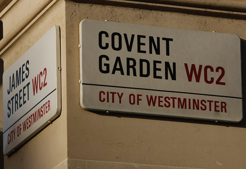 LONDON - FEBRUARY 01:  A Covent Garden Street sign  is pictured on February 1, 2008 in London, England.  (Photo by Daniel Berehulak/Getty Images)