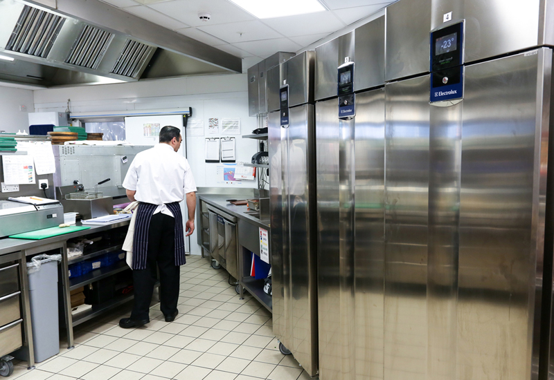 Electrolux case study photography at the Football Cafe, in Westfeild Stratford, London. Picture by Shaun Fellows / Shine Pix Ltd