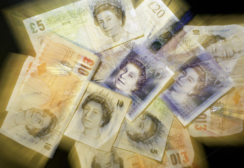 British Sterling pound notes are pictured in London, on December 4, 2008.The British pound hit a record euro low on Thursday, while the single unit dipped against the dollar, ahead of expected interest rate cuts from the Bank of England and the European Central Bank. In London trade, the pound dropped to 1.1499 euros -- the lowest level since the creation of the European single currency in 1999. AFP PHOTO/Shaun Curry (Photo credit should read SHAUN CURRY/AFP/Getty Images)