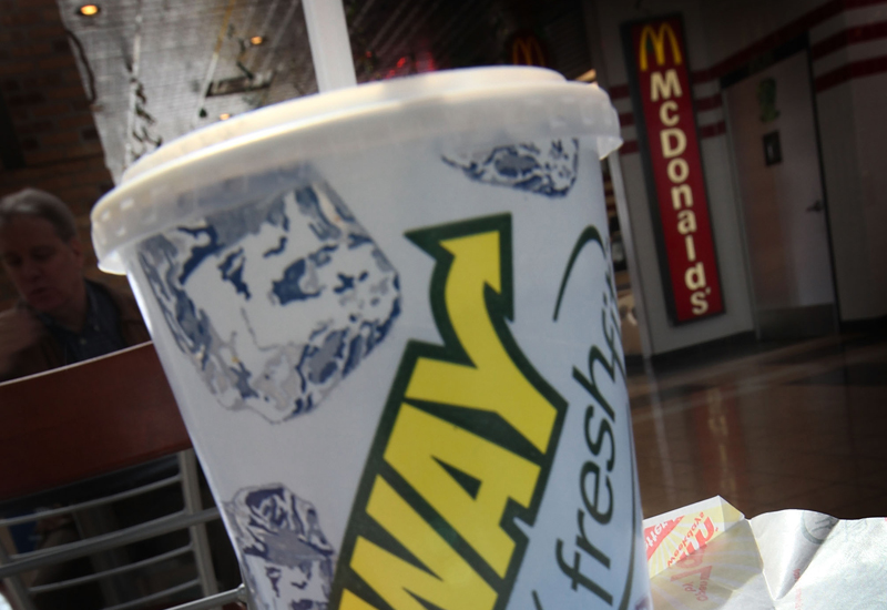 CHICAGO, IL - MARCH 08: In this photo illustration a sandwich and drink is seen at a Subway restaurant on March 8, 2011 in Chicago, Illinois. With 34,225 restaurants in 95 countries, Subway has surpassed McDonalds as the world's largest restaurant chain.  (Photo illustration by Scott Olson/Getty Images)