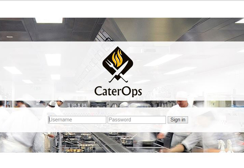 CaterOps Log-in