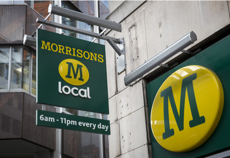 LONDON, ENGLAND - OCTOBER 02:  A general view of a Morrisons supermarket on October 2, 2014 in London, England.   Morrisons, who reported a fall in half-year profits of more than 30%, has today announced a new loyalty card scheme. Its Match & More card will award points equivalent to the difference in price on cheaper items in Aldi, Lidl, Tesco, Sainsbury's and Asda.   (Photo by Rob tothard/Getty Images)