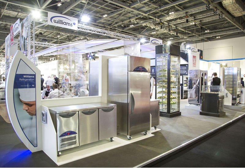 Falcon and Williams stand, Hotelympia 2014