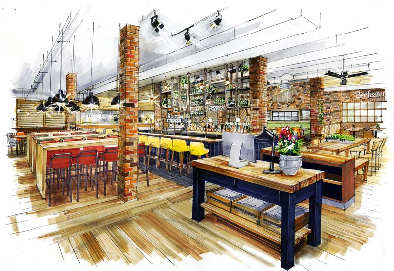 Whitbread Launches Beefeater Bar + Block Concept in Birmingham