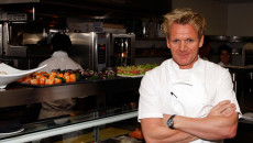 WEST HOLLYWOOD, CA - JUNE 04:  Chef Gordon Ramsay poses in the kitchen at the celebration opening party of his new Los Angeles restaurant The London, on June 4, 2008 in West Hollywood, California  (Photo by Frazer Harrison/Getty Images)