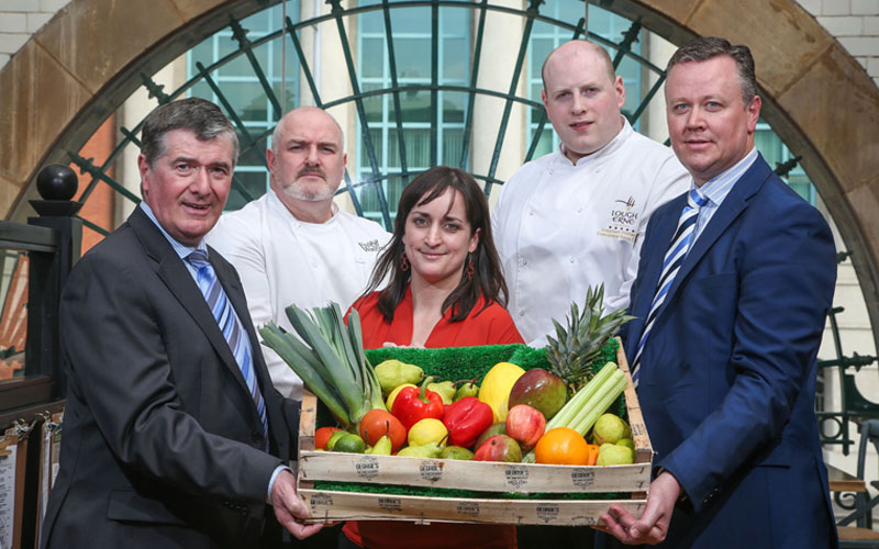 Chef Network: Trevor Annon, chairman of Mount Charles and Irish Foodservice Suppliers Alliance board member; Richard Martin, chef at Mount Charles-owned Fed & Watered; Ruth Hegarty, head of community at Chef Network; Stephen Holland, executive sous chef at Lough Erne Resort; and Cathal Geoghegan, managing director of Mount Charles