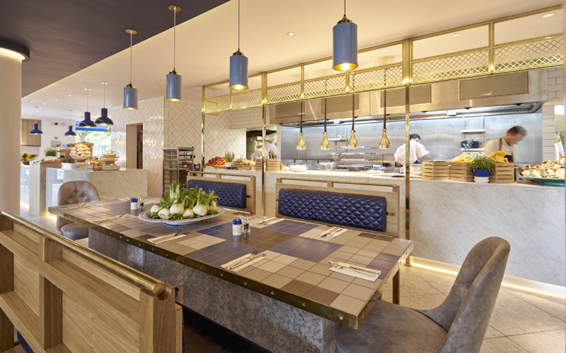 Carluccio's Spitalfields open kitchen
