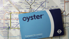 London underground map and Oyster card