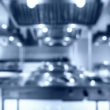 Blurred kitchen