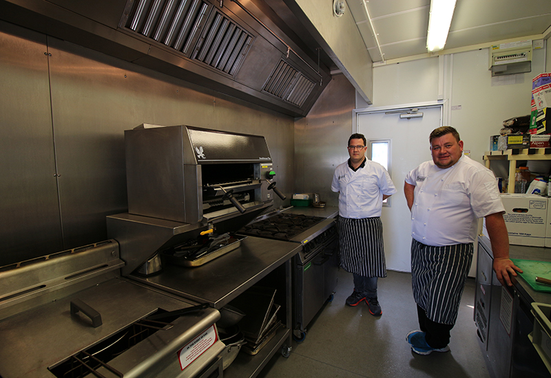 Jon Kay, director and Simon Crispin-Coomber, chef at Complete Catering