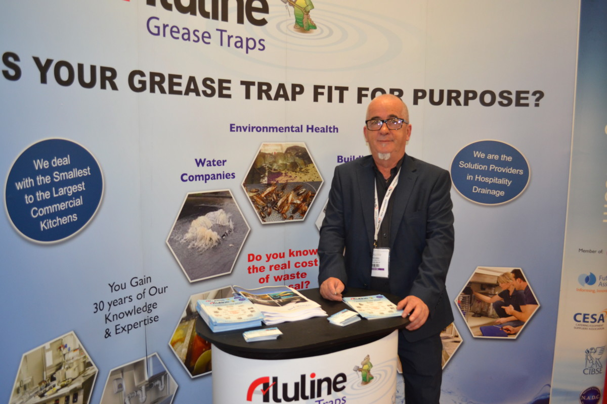 Derek Shiels, sales director, was exhibiting Aluline's latest innovations.
