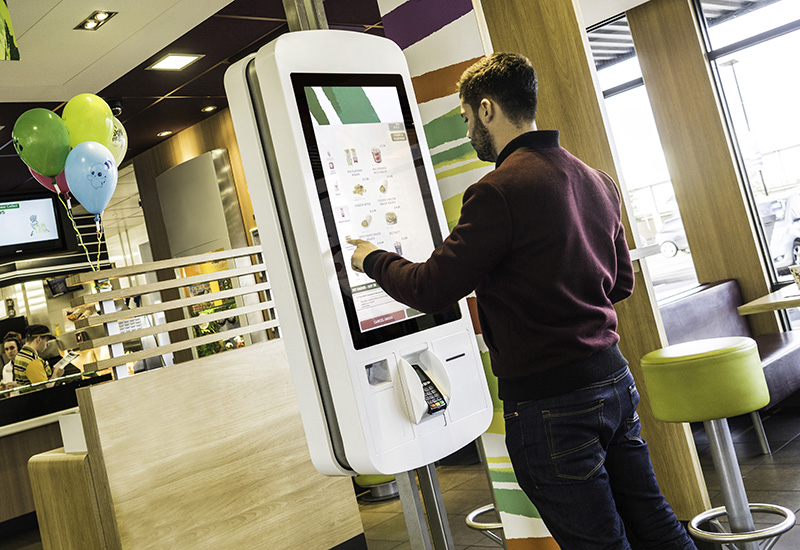 Evoke Creative kiosk at McDonald's