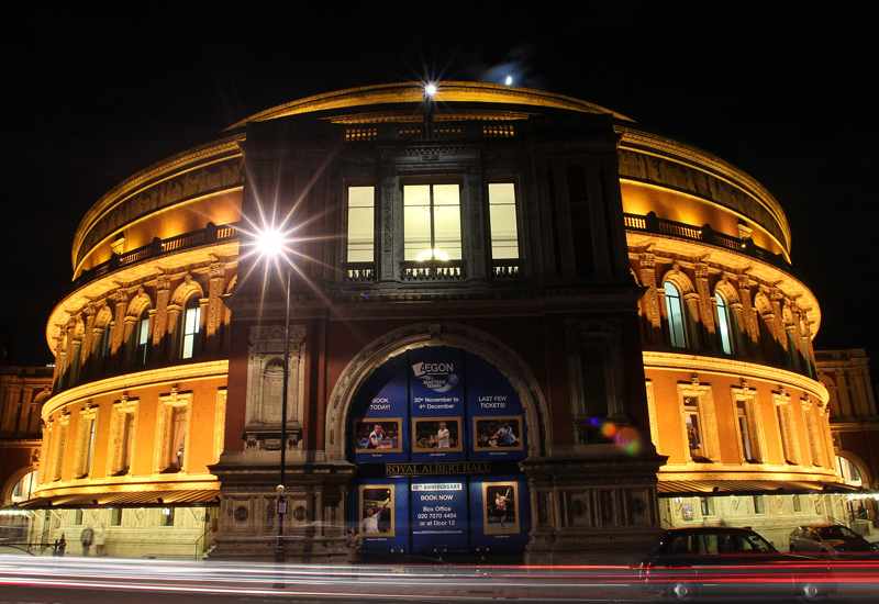 LONDON, ENGLAND - DECEMBER 2:  Exterior general view of the Royal Albert Hall during Day Three of the AEGON Masters Tennis at the Royal Albert Hall on December 2, 2011 in London , England.  (Photo by Jan Kruger/Getty Images)