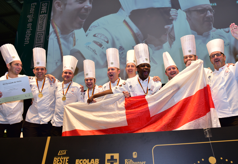 England team win gold at the World Culinary Olympics