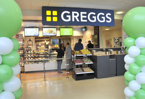 Greggs healthy shop, New Cross Hospital, Wolverhampton