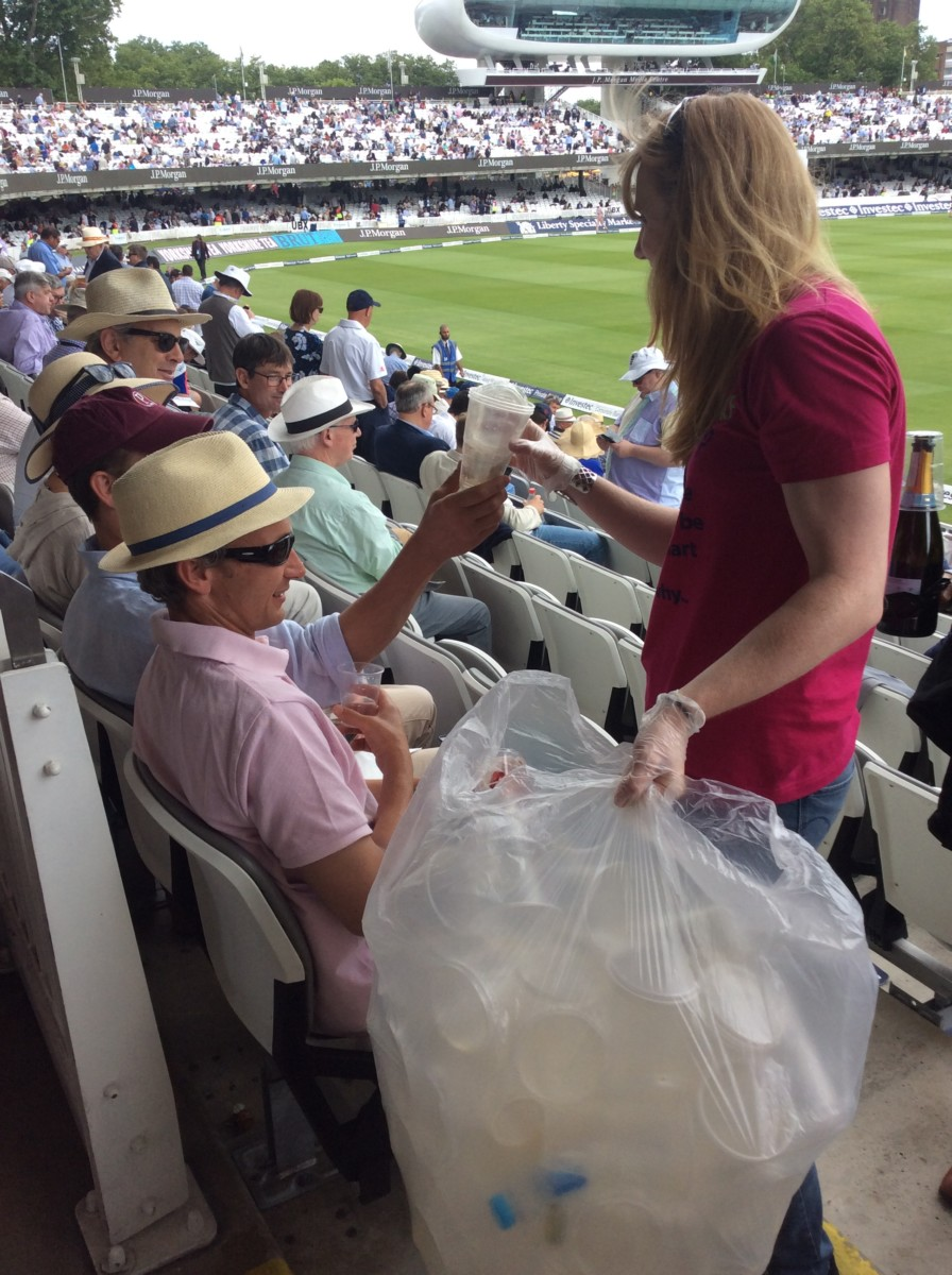 Bunzl Head of Sustainability Jo Gilroy at Lords positive pick 1