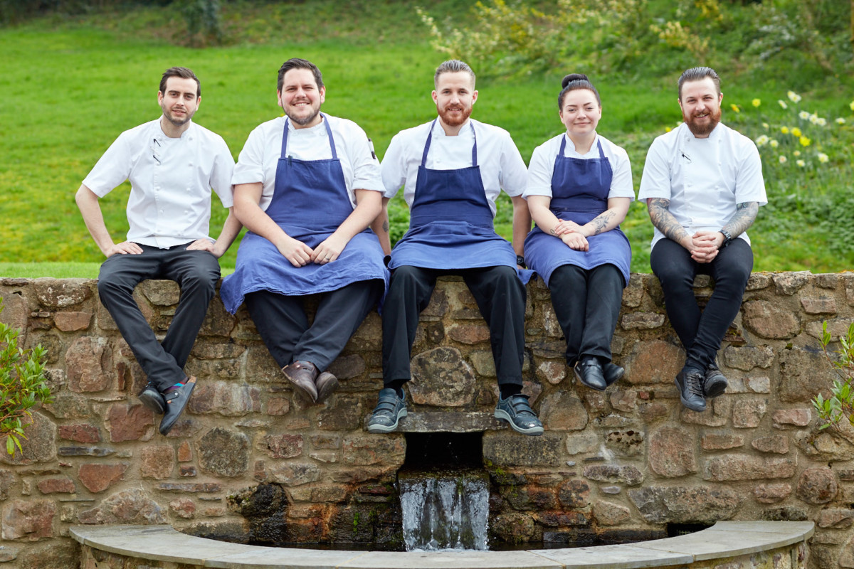 Grove of Narberth kitchen staff