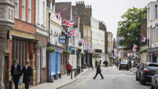 ETON, ENGLAND - JUNE 10: A general view of Eton High Street, which will hold a street party to celebrate Queen Elizabeth II's 90th birthday, pictured on June 10, 2016 in Eton, England. The town of Eton neighbours Windsor, home of Windsor Castle and a royal residence of Queen Elizabeth II, and is home to Eton College where Prince William, Duke of Cambridge and Prince Harry were educated. The town is celebrating the Queen's 90th birthday, and will hold a street party on Sunday. (Photo by Jack Taylor/Getty Images)