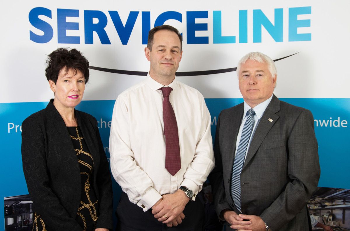 Linda Scothorn, HR & administration director; Duncan Grocott, managing director; Graham Skinner, sales & marketing director