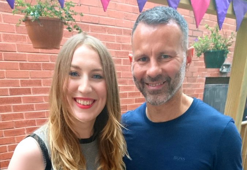 Caroline Stevenson, Foodinate, with Ryan Giggs