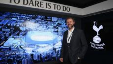 <>  during the visit to the new Tottenham Hotspur stadium and VR suite on October 16, 2017 in London, England.