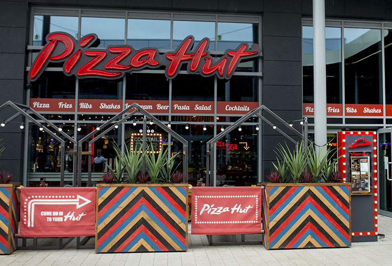 10 July 2017. The new Pizza Hut restaurant at White Rose Centre, Leeds.