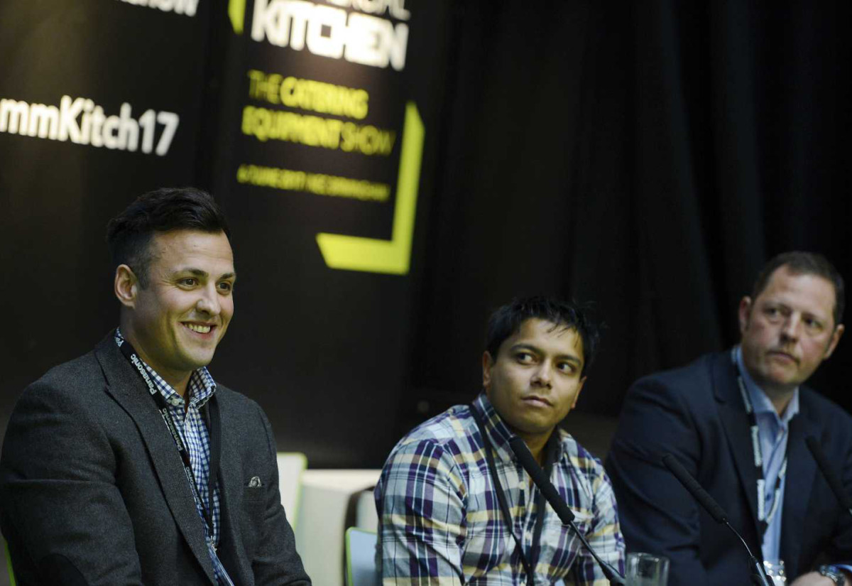 Chris Knights, Kumour Uddin and Chris Webb at pub roundtable, Commercial Kitchen 2017