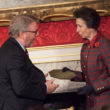 Chris Craggs receiving Princess Royal Training Award