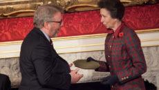 Chris Craggs receiving Princess Royal Training Award