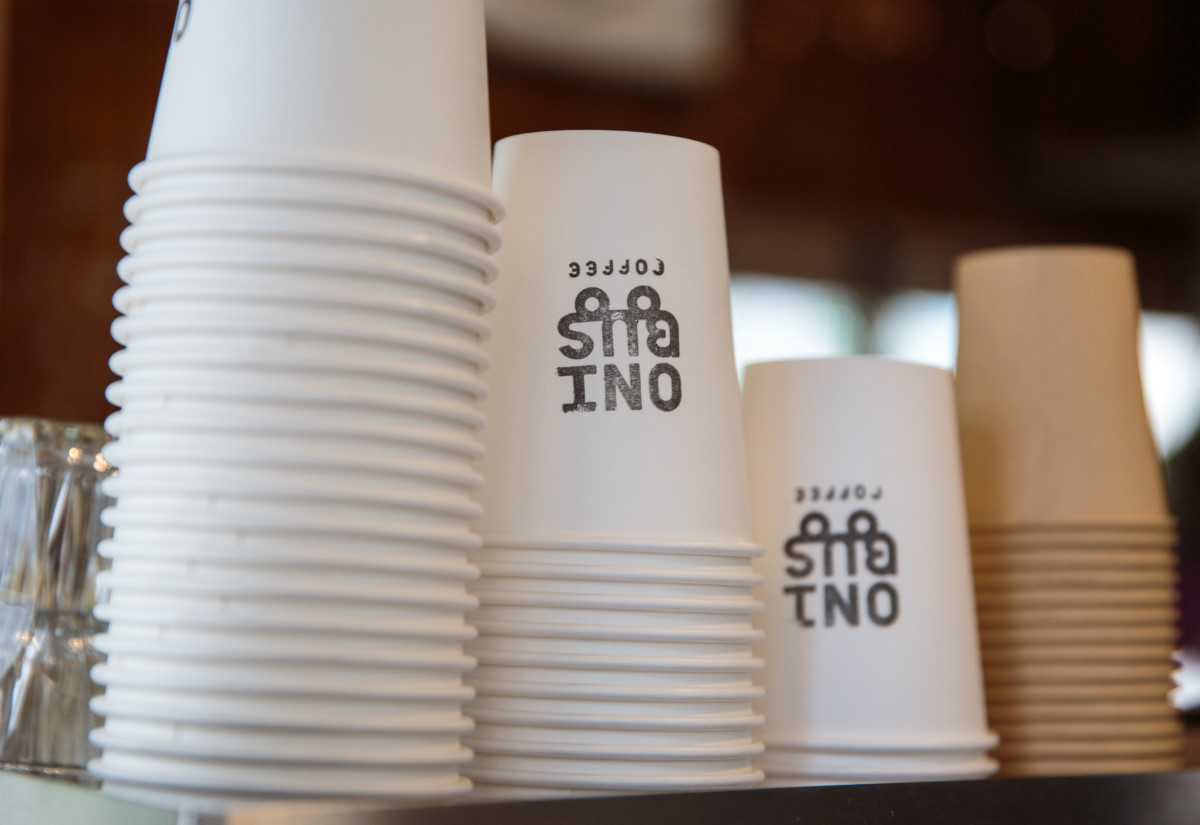 TOKYO, JAPAN - MAY 20:  Specialty coffee shop Onibus Coffee cups are seen at the coffee shop on May 20, 2016 in Tokyo, Japan. With the rise of specialty coffee shops opening all over the world in recent years, Tokyo's coffee culture catches on to offer quality coffee to like minded people across all walks of life. (Photo by Christopher Jue/Getty Images)