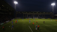 GILLINGHAM, UNITED KINGDOM - AUGUST 29: General view inside the stadium during the Checkatrade Trophy group match between Gillingham v Southend at Priestfield Stadium on August 29, 2017 in Gillingham, United Kingdom.  (Photo by James Chance/Getty Images)