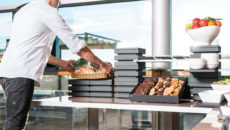 Cubic buffet display system
