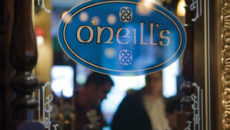 O'Neill's logo in mirror