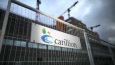 BIRMINGHAM, ENGLAND - JANUARY 15:  Carillion Company signage is seen outside the Midland Metropolitan Hospital, in Smethwick, which is being built by construction company Carillion on January 15, 2018 in Birmingham, England. The company has announced it is to go into liquidation putting thousands of jobs at risk after talks between the company, its lenders and the government failed to reach a deal.  (Photo by Christopher Furlong/Getty Images)
