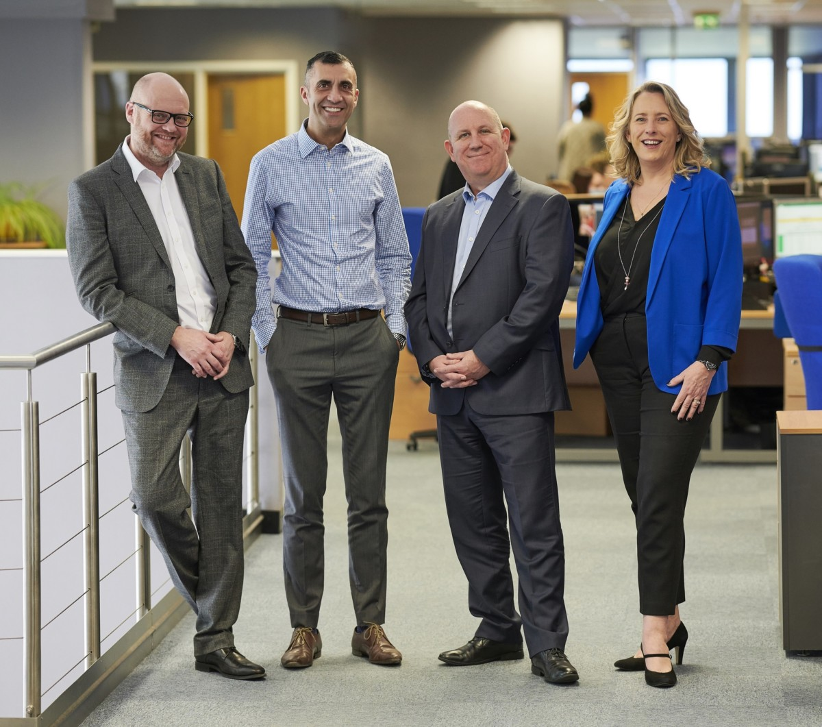 Christian Hampshire, operations director; Darren Beech, finance director; Keith Mackie, managing director; and Louise Plant, sales director, Hobart Service