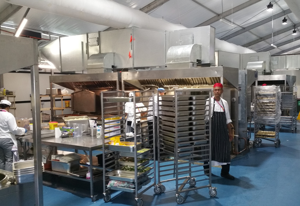 PKL Commonwealth Games 2018 kitchen