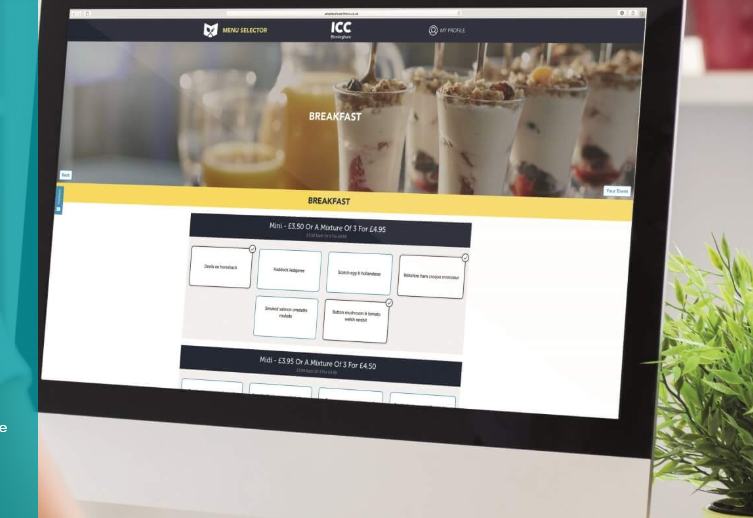 amadeus creates conference catering industry s first online menu