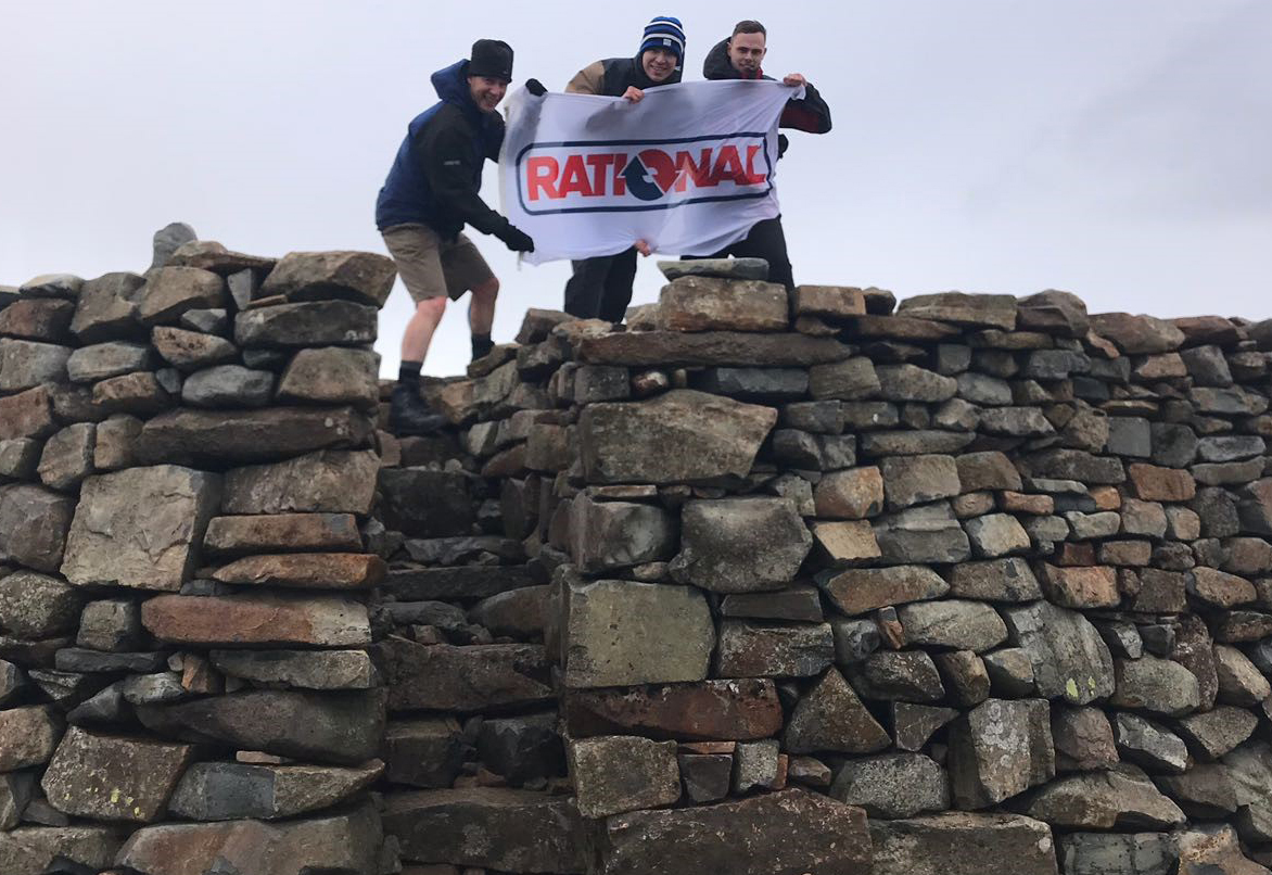 Rational Three Peaks team at Scafell Pike