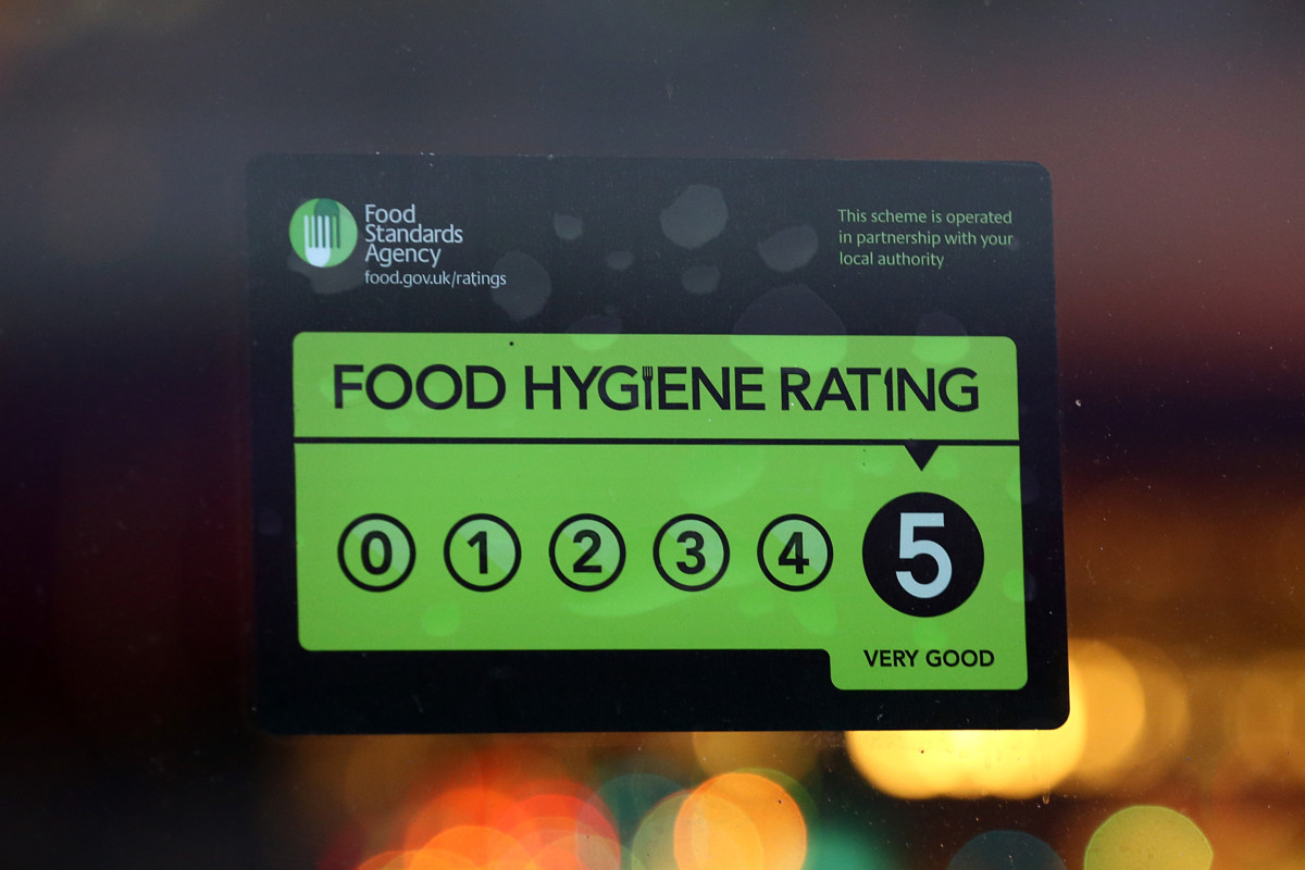 5-star food hygiene rating