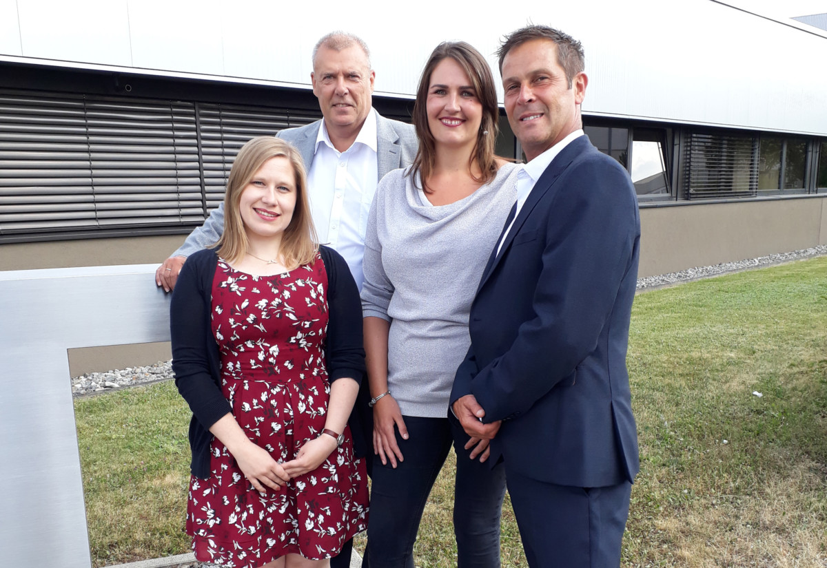 Emma Charles, equipment support specialist, IPC, David Riley, managing director, Hobart Warewash, Laura Bird, equipment and decor purchasing manager, IPC Europe, and Ian Barber, national accounts manager, Hobart Warewash