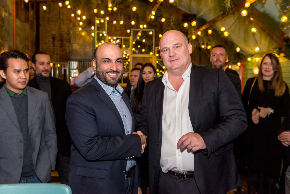 Sultan Ali Rashed Lootah, chairman and managing director of RELAM Investment and Steve Richards, CEO, Casual Dining Group