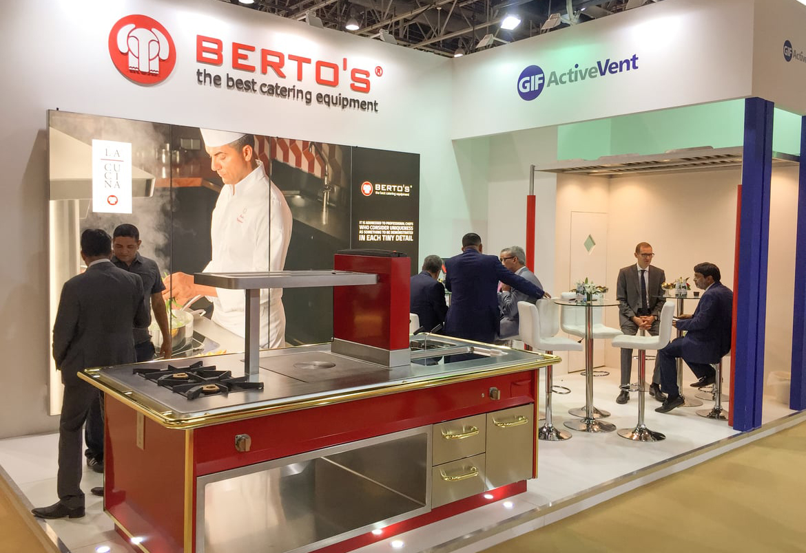 Berto's exhibition stand