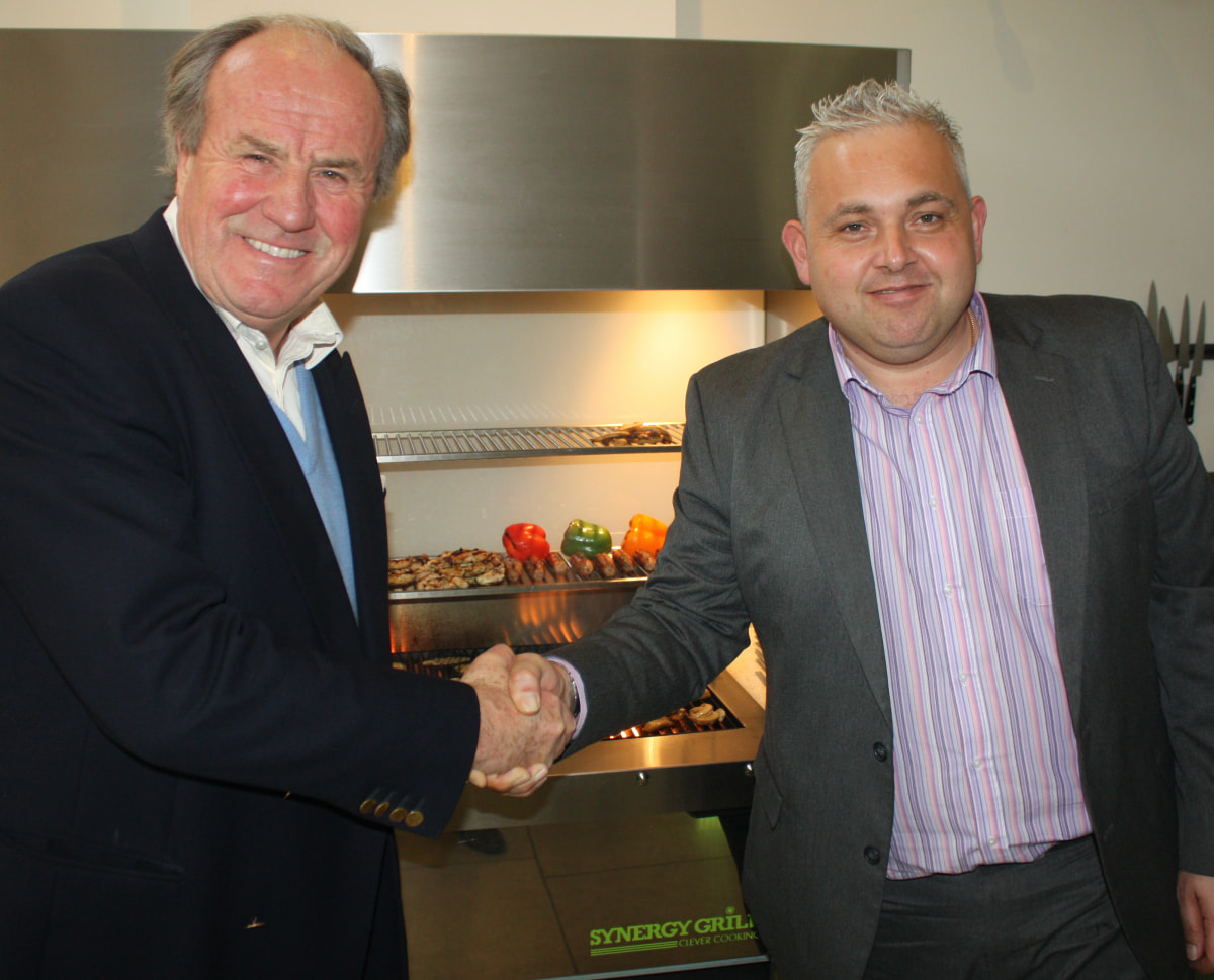 Justin Cadbury, founder and chairman, Synergy Grill and Chris Jones, managing director, Lincat
