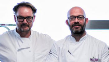 Andrew Dargue, chef, Vanilla Black, with Pete Redman, chef director, Bartlett Mitchell